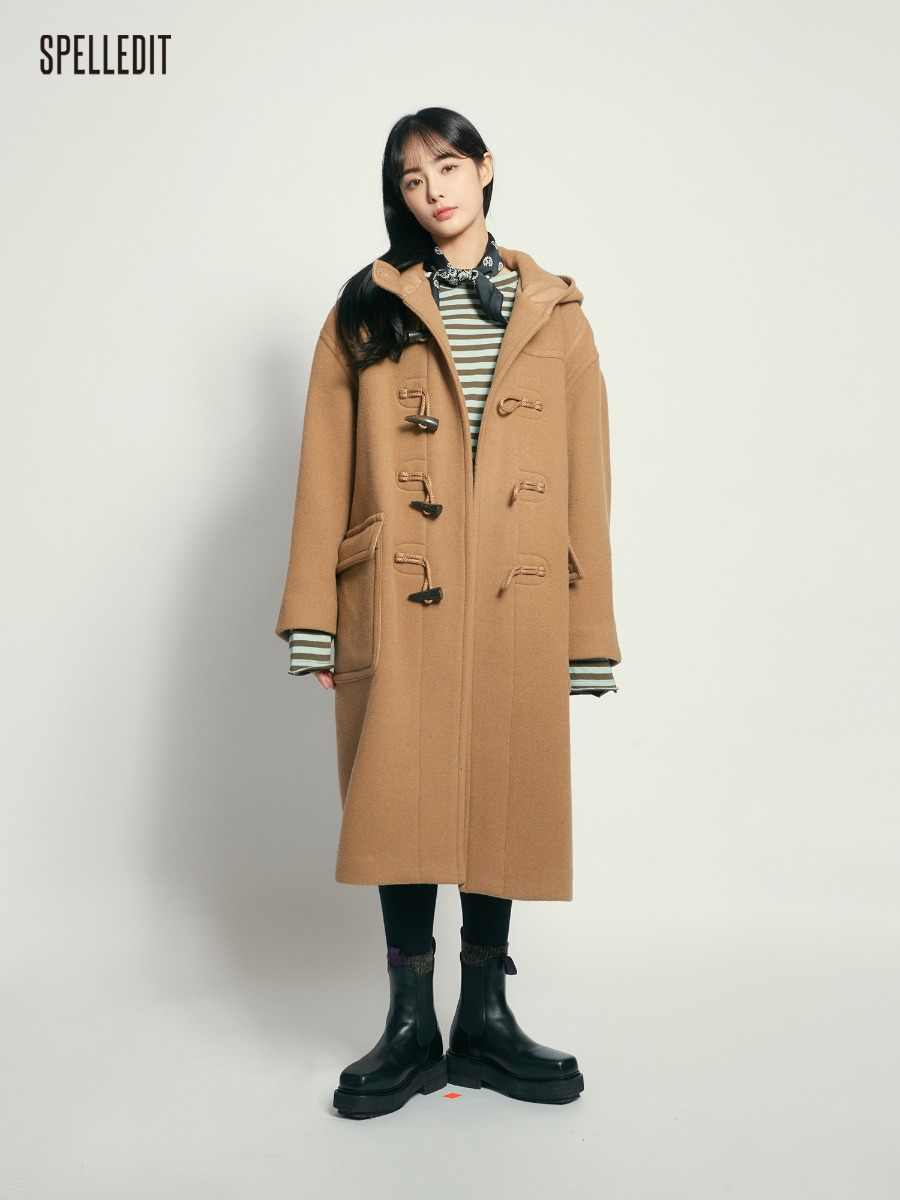 Duffle Hood Oversized Coat